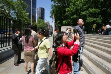 Chinese tourists New York 2013